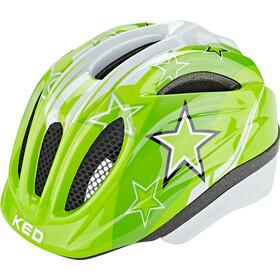 KED Meggy II Kask Dzieci, green stars